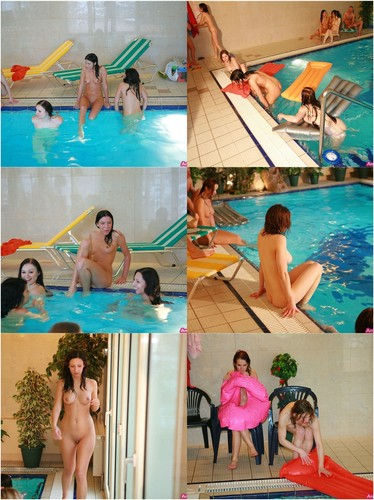 Swimming Pool With Beautiful Babes