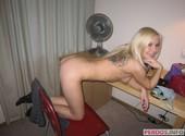 Candid amateur photo blonde Russian