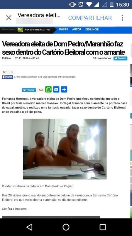 Vídeo de sexo da Vereadora de Dom Pedro Maranhão caiu na net download