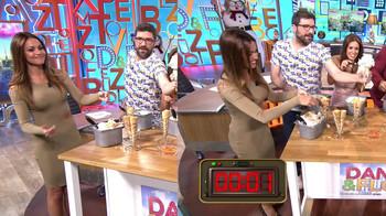 Lara Álvarez, vestido ceñido en 'Dani & Flo' (19/01/18)