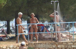 camp shower Nudist girls