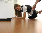 Monica: School Girl Paddling And Corner Time - image6