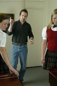 Jennifer And April Are Spanked By The Dean - image4