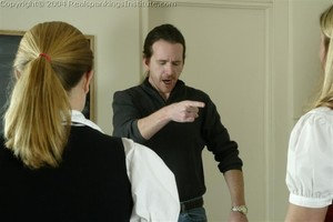 Jennifer And April Are Spanked By The Dean - image1