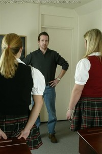 Jennifer And April Are Spanked By The Dean - image2