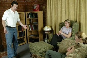 Jennifer & April: Late & Spanked - image5
