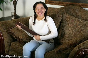 Kenzie Is Interviewed And Spanked With The Belt - image2