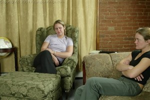 Jennifer & April: Late & Spanked - image1