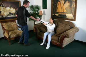 Kenzie Is Interviewed And Spanked With The Belt - image3