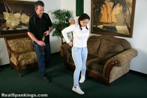 Kenzie Is Interviewed And Spanked With The Belt - image5
