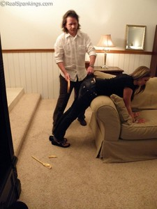 Riley Spanked For Too Many Texts - image1
