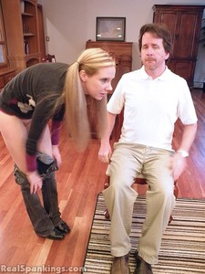 Chloe Spanked OTK, Over The Knee - image3