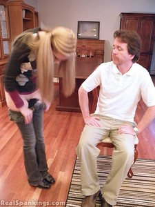 Chloe Spanked OTK, Over The Knee - image2