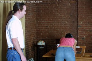 Progressive Spanking Over Desk - image1