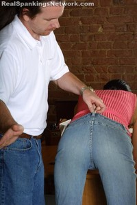 Progressive Spanking Over Desk - image6