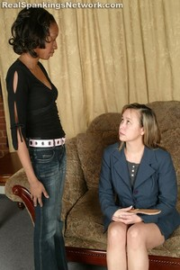 Janelle: Leather Paddle OTK Spanking - image6