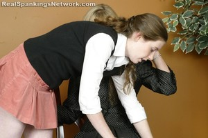 Ms. Burns Gives Bailey A Hand-spanking - image1