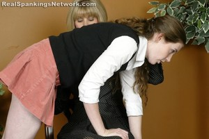 Ms. Burns Gives Bailey A Hand-spanking - image3