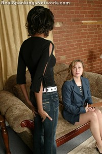 Janelle: Leather Paddle OTK Spanking - image4