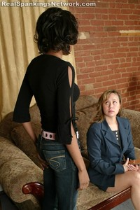 Janelle: Leather Paddle OTK Spanking - image2